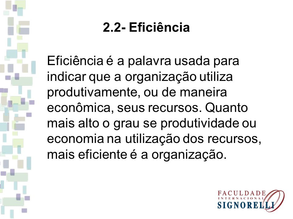 2.2- Eficiência