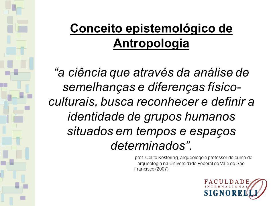 Conceito epistemológico de Antropologia