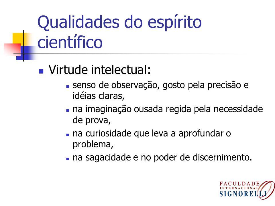 Qualidades do espírito científico