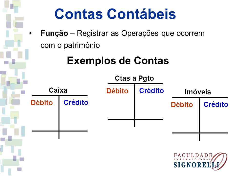 Contas Contábeis Exemplos de Contas