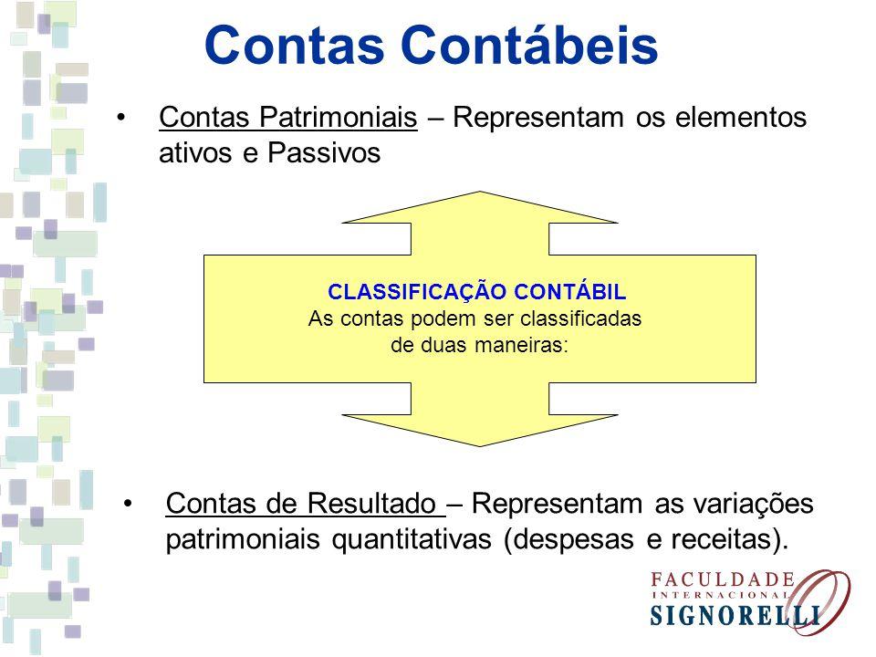 CLASSIFICAÇÃO CONTÁBIL