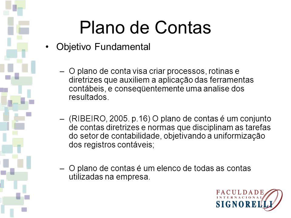 Plano de Contas Objetivo Fundamental