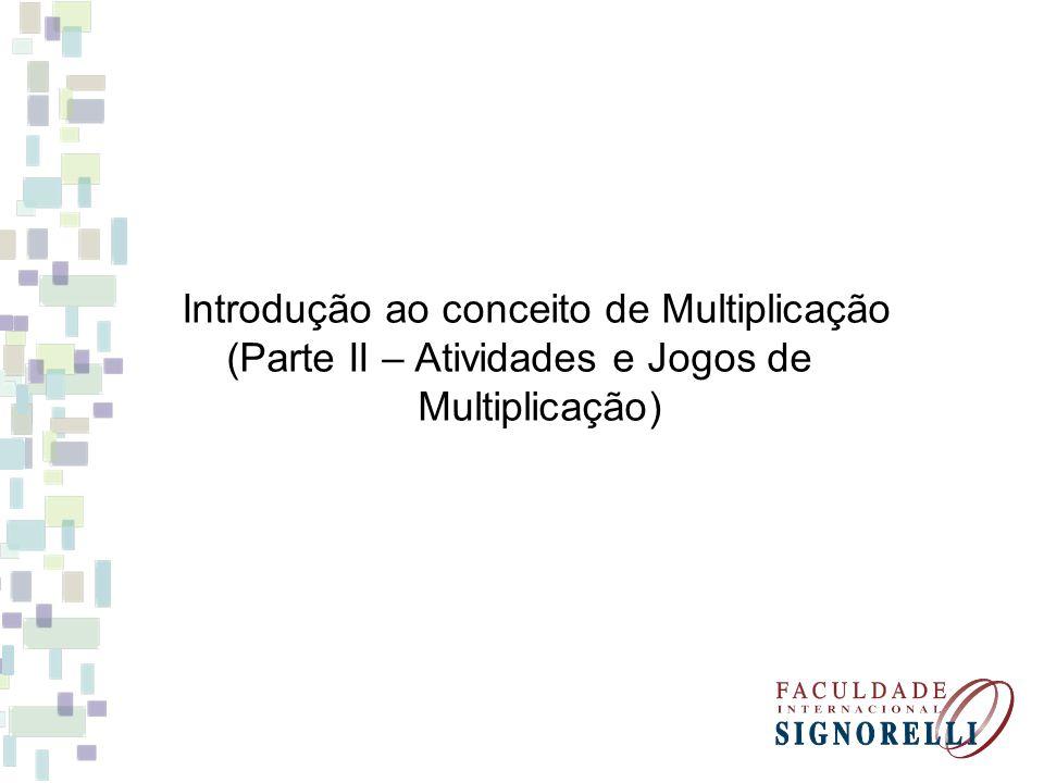 Introdução ao conceito de Multiplicação