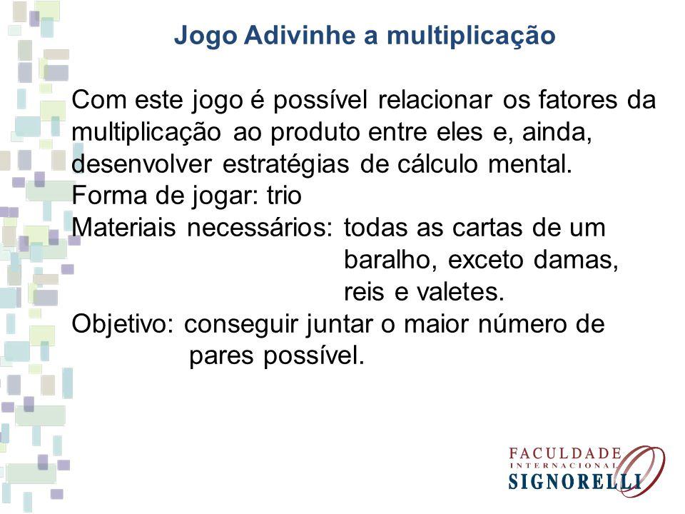Jogo Adivinhe a multiplicação