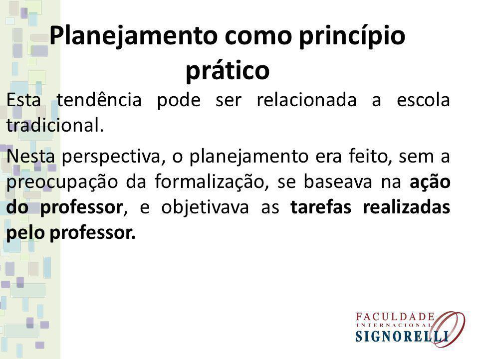 Planejamento como princípio prático