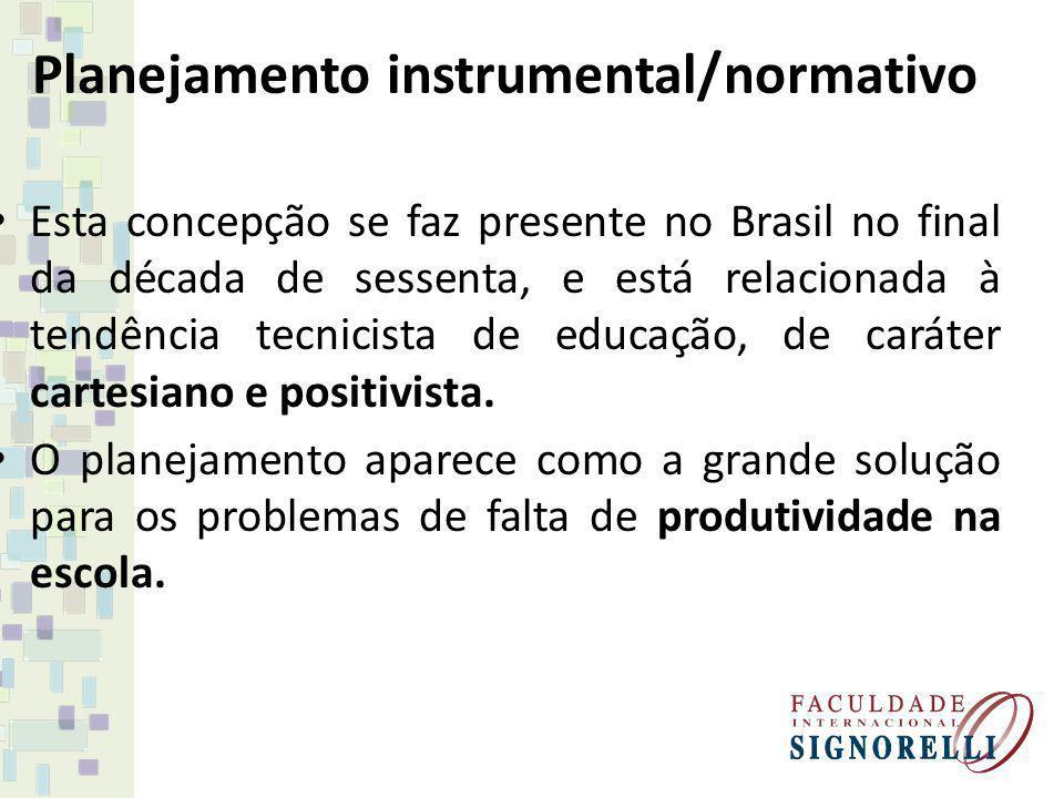 Planejamento instrumental/normativo