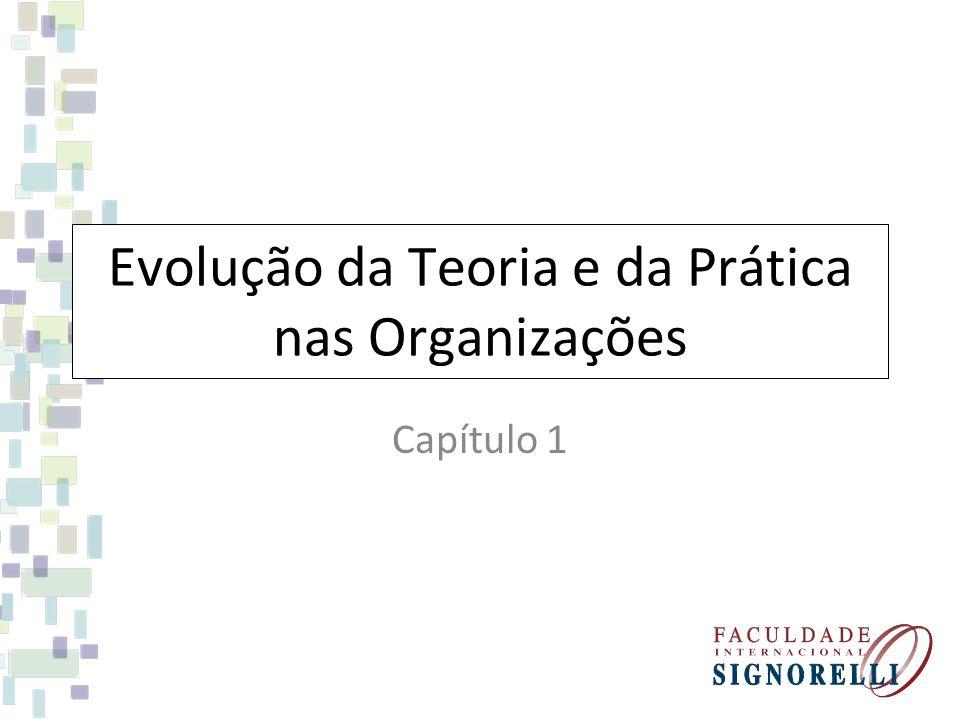Evolução da Teoria e da Prática nas Organizações