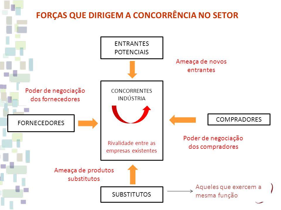 FORÇAS QUE DIRIGEM A CONCORRÊNCIA NO SETOR