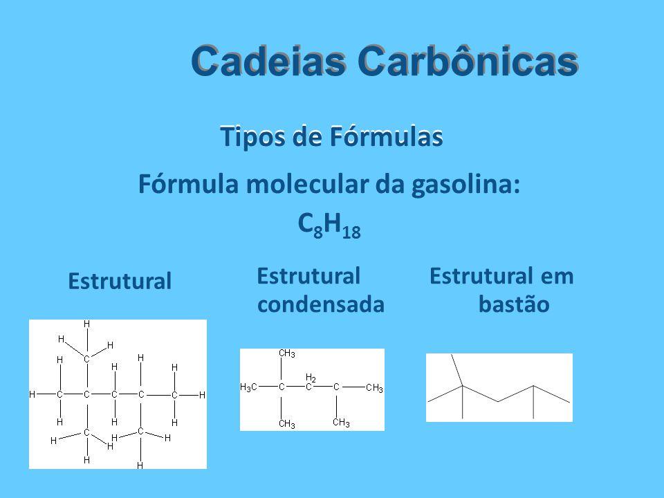 Fórmula molecular da gasolina: Estrutural condensada