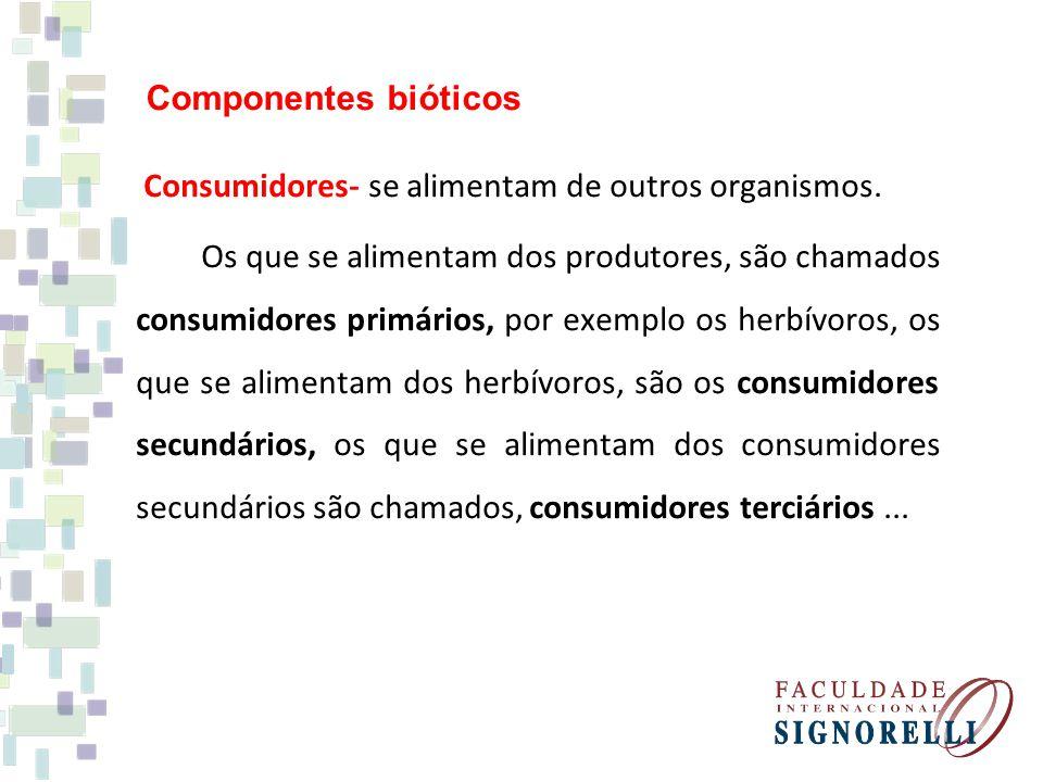 Componentes bióticos