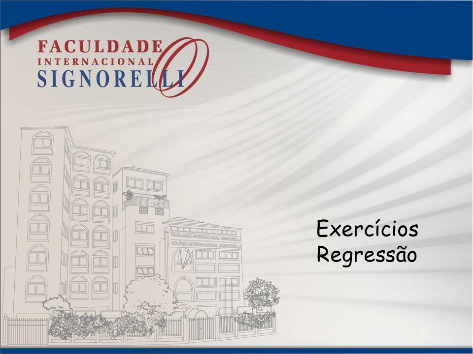 Exercícios Regressão