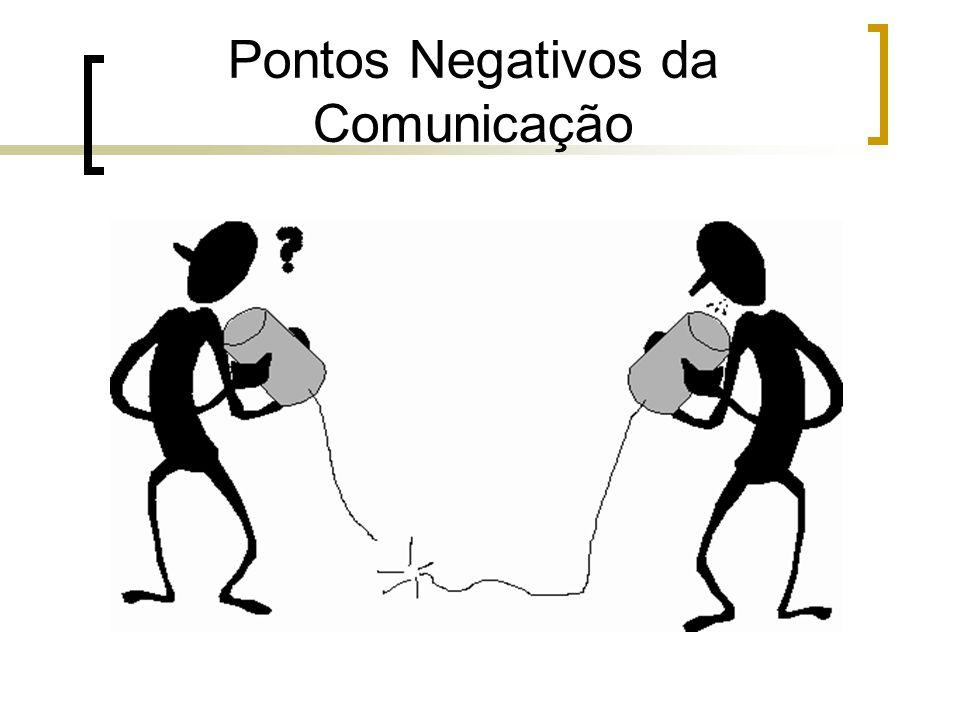 Pontos Negativos da Comunicação