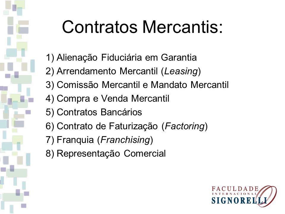 Contratos Mercantis: 1) Alienação Fiduciária em Garantia