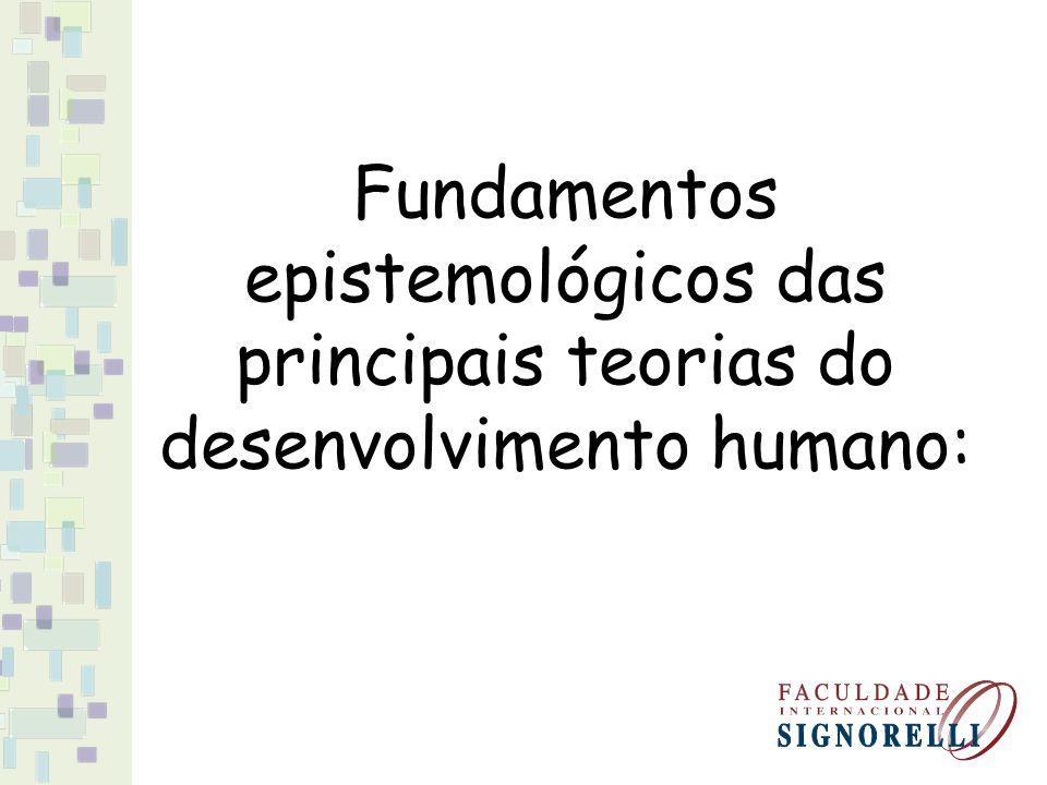 Fundamentos epistemológicos das principais teorias do desenvolvimento humano:
