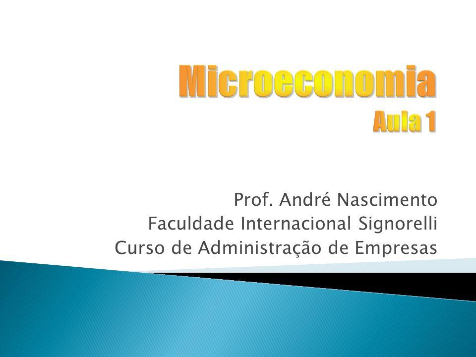 Microeconomia Aula 1 Prof. André Nascimento