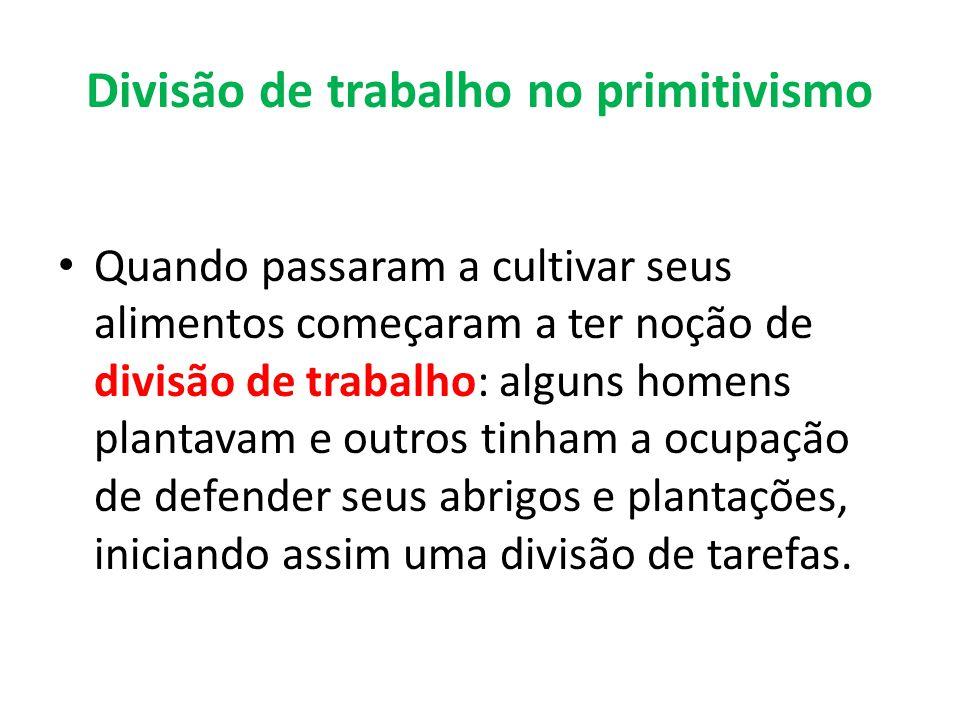Divisão de trabalho no primitivismo