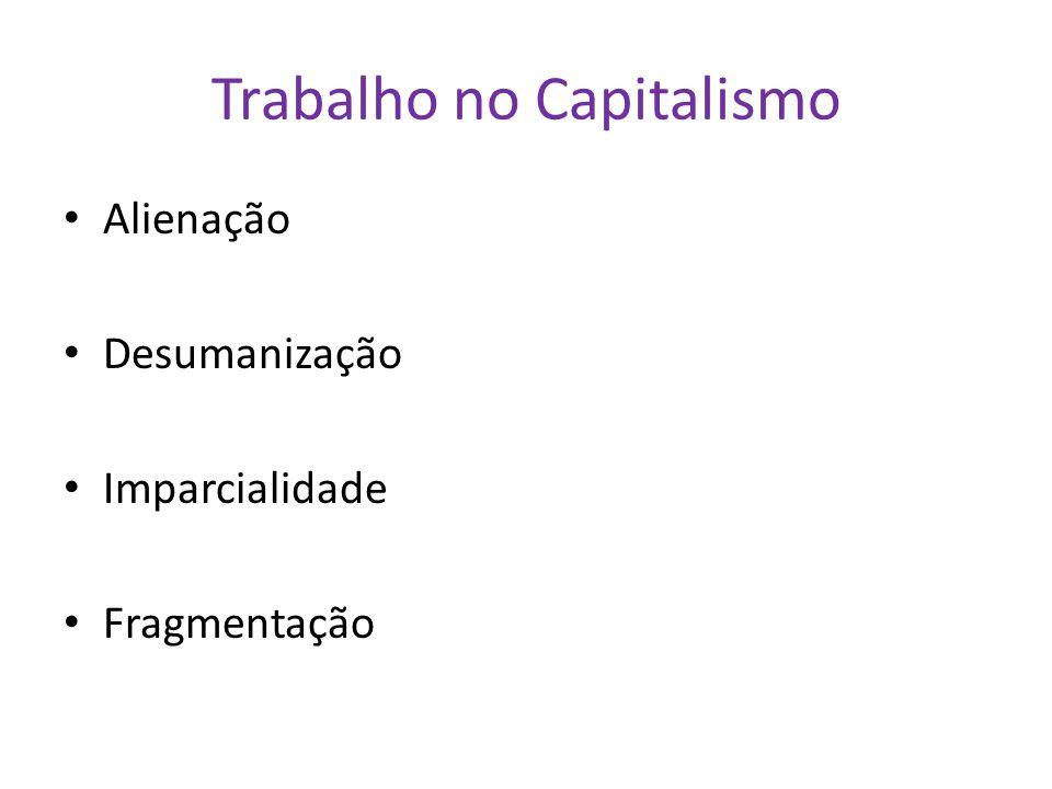 Trabalho no Capitalismo