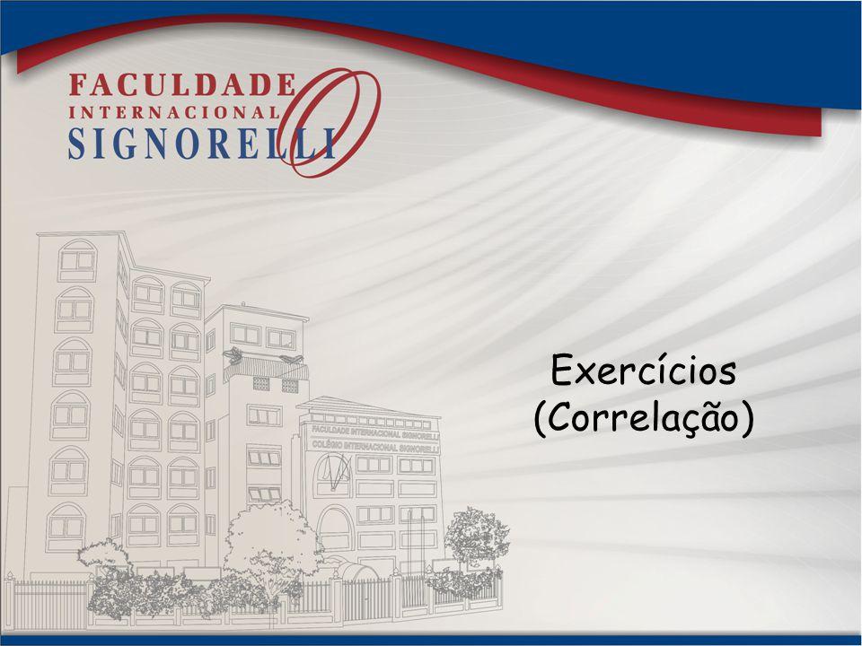 Exercícios (Correlação)