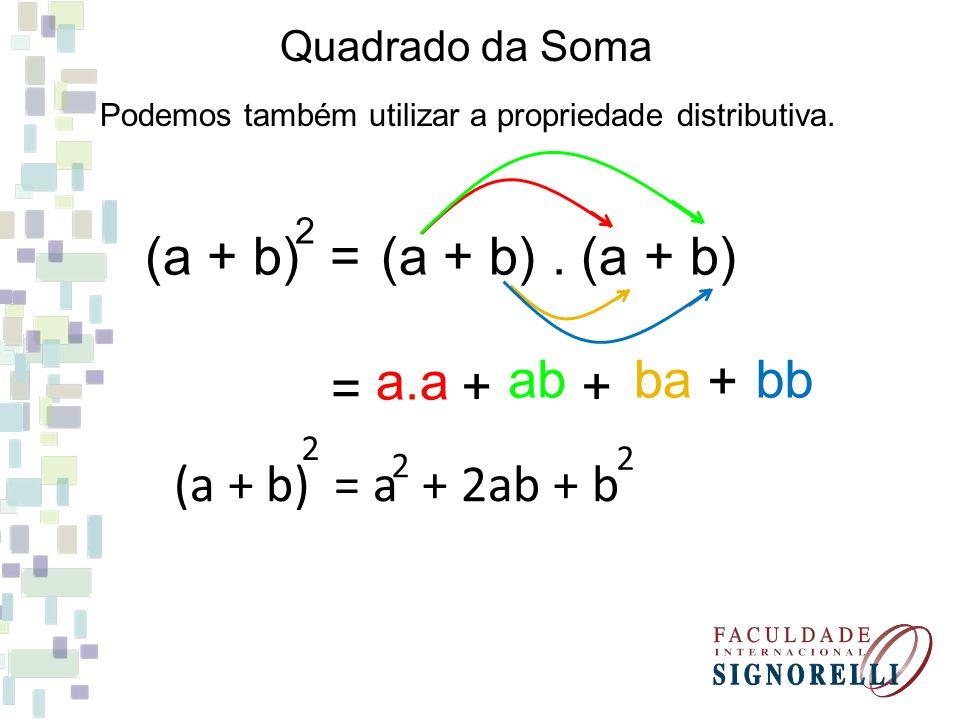 (a + b) = (a + b) . (a + b) a.a bb ab ba = + + + (a + b) = a + 2ab + b
