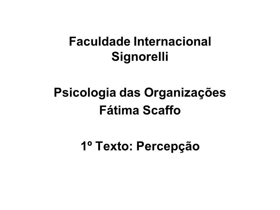 Faculdade Internacional Signorelli Psicologia das Organizações