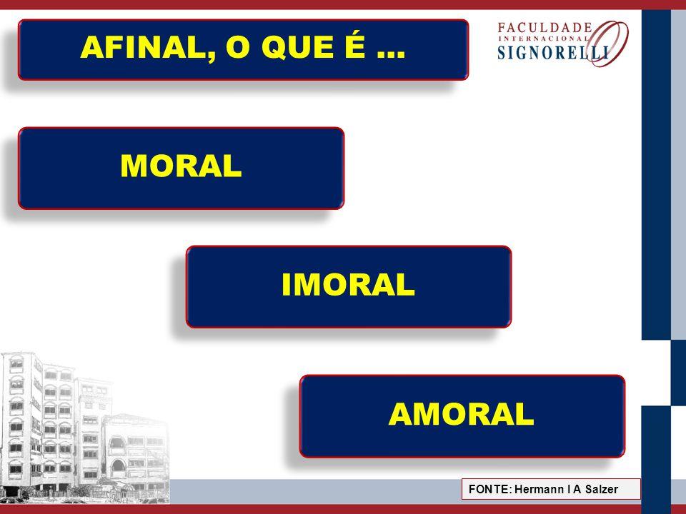 AFINAL, O QUE É ... MORAL IMORAL AMORAL