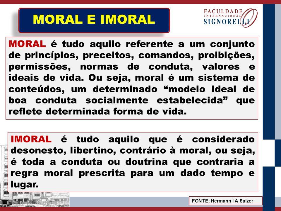 MORAL E IMORAL