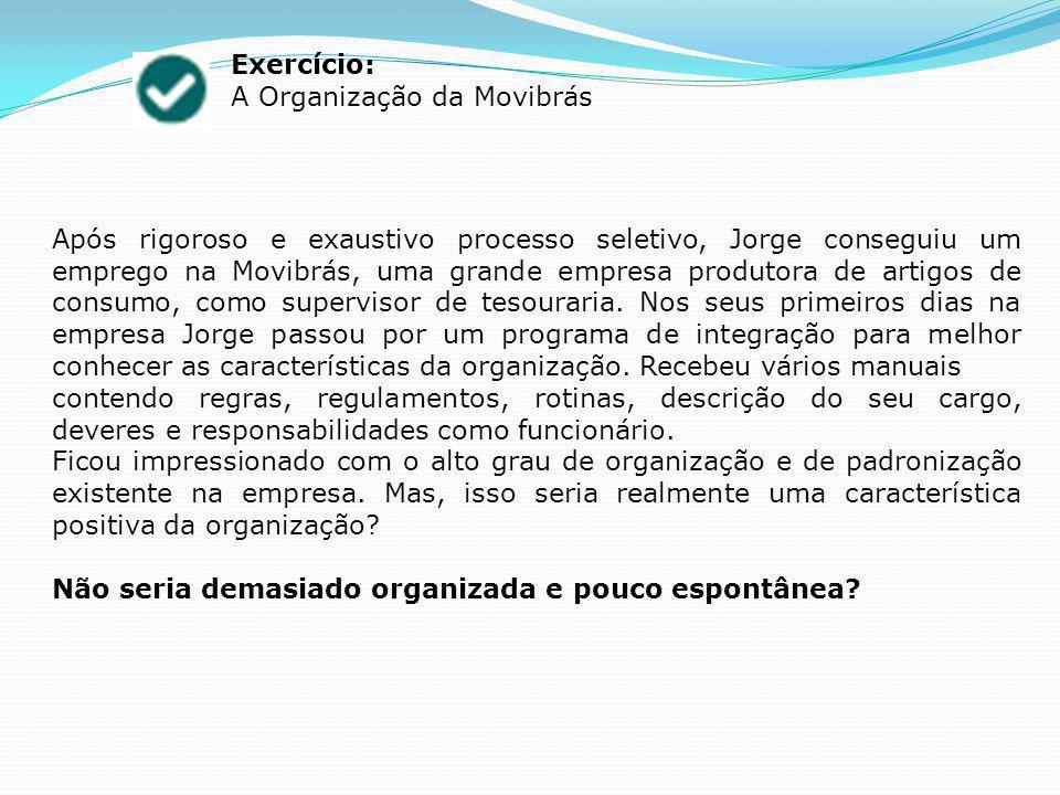 Exercício: A Organização da Movibrás.