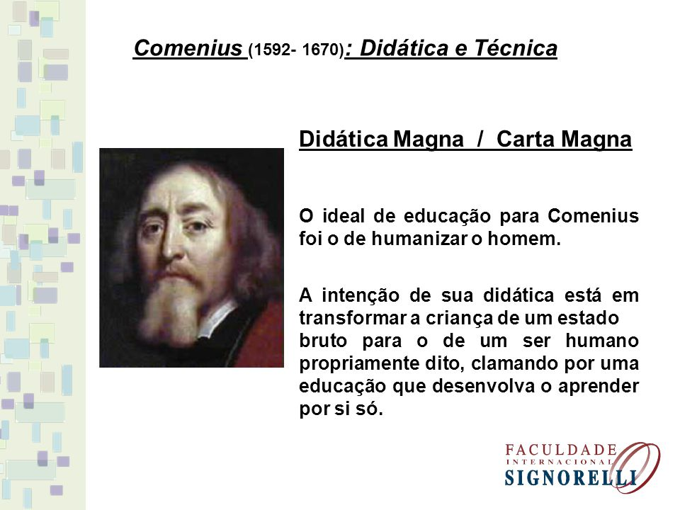 Comenius (1592- 1670): Didática e Técnica
