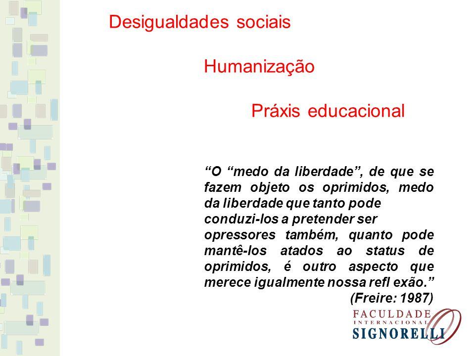 Desigualdades sociais Humanização Práxis educacional
