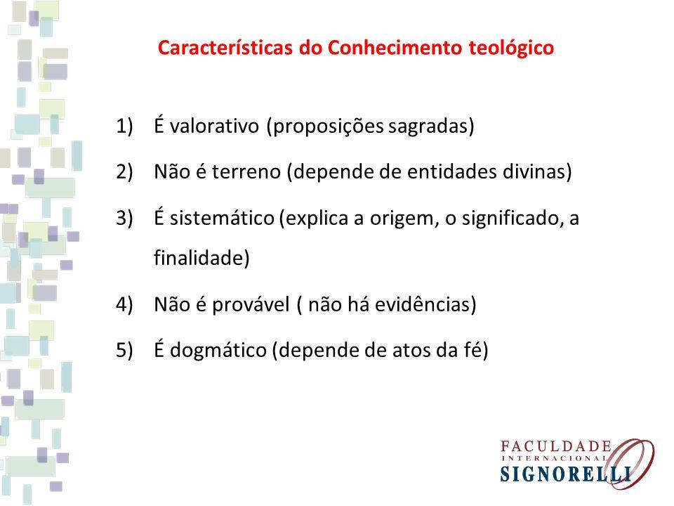 Características do Conhecimento teológico