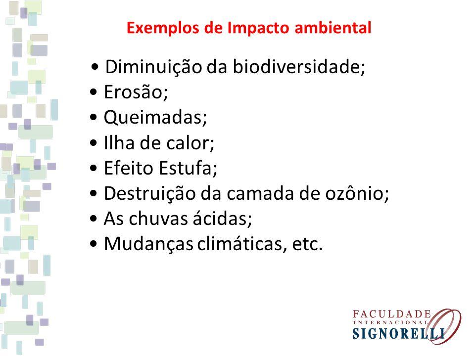 Exemplos de Impacto ambiental