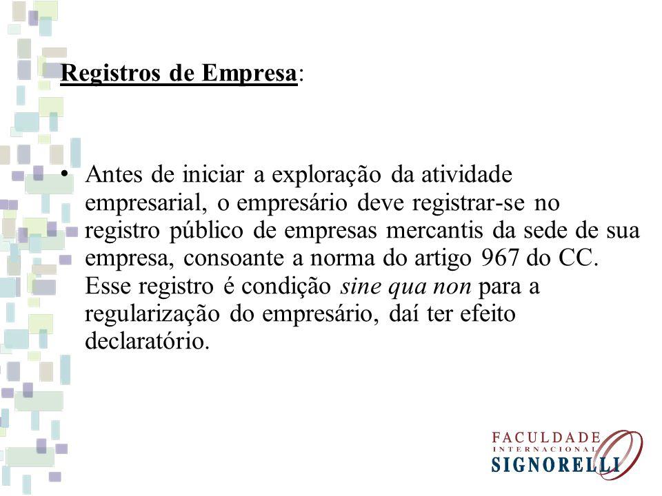 Registros de Empresa: