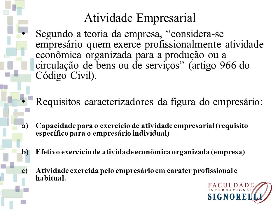 Atividade Empresarial