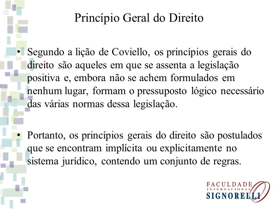 Princípio Geral do Direito