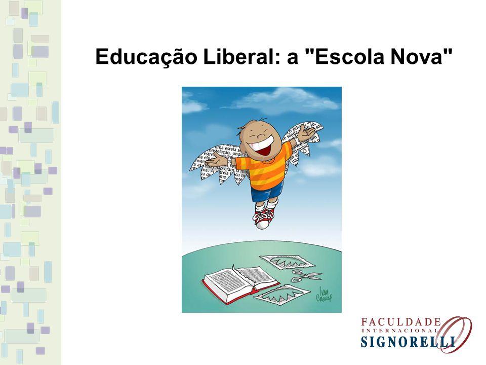 Educação Liberal: a Escola Nova