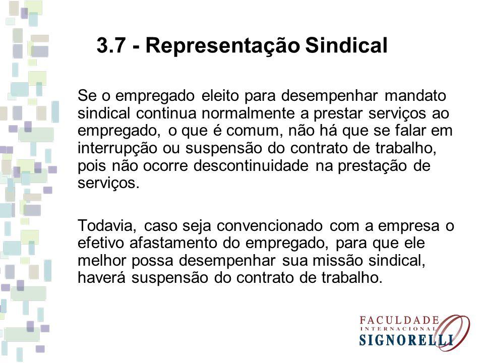 3.7 - Representação Sindical