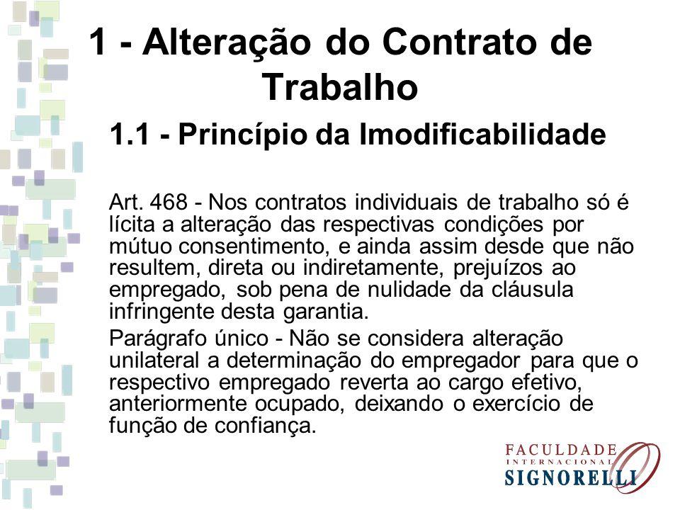 1 - Alteração do Contrato de Trabalho