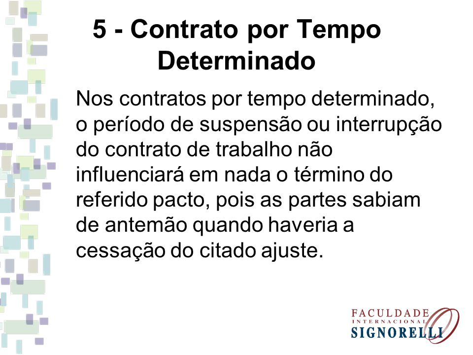 5 - Contrato por Tempo Determinado