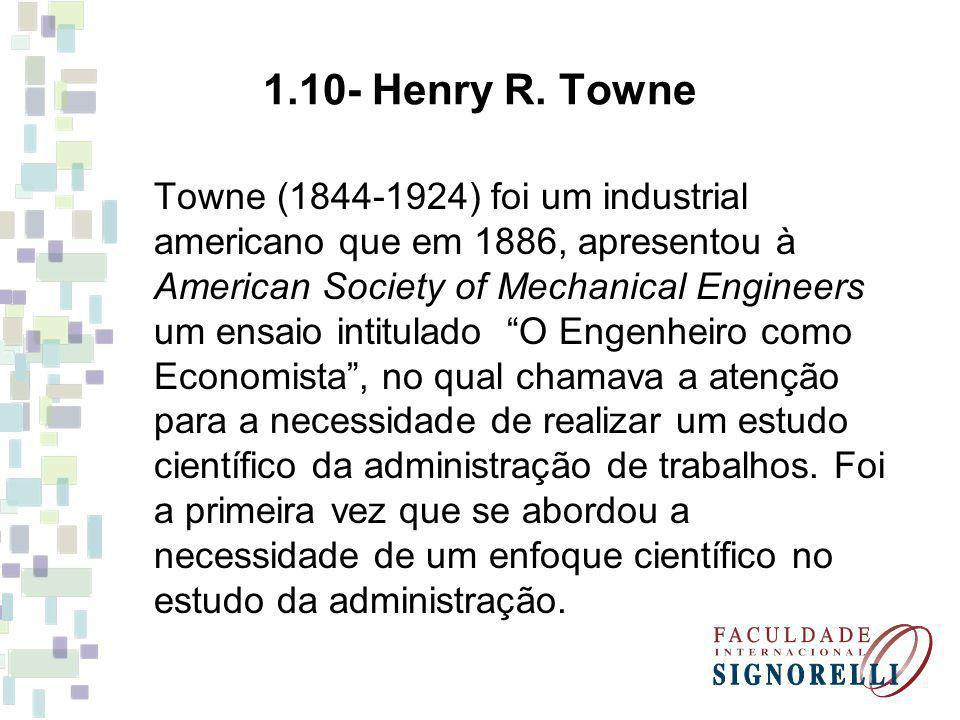 1.10- Henry R. Towne