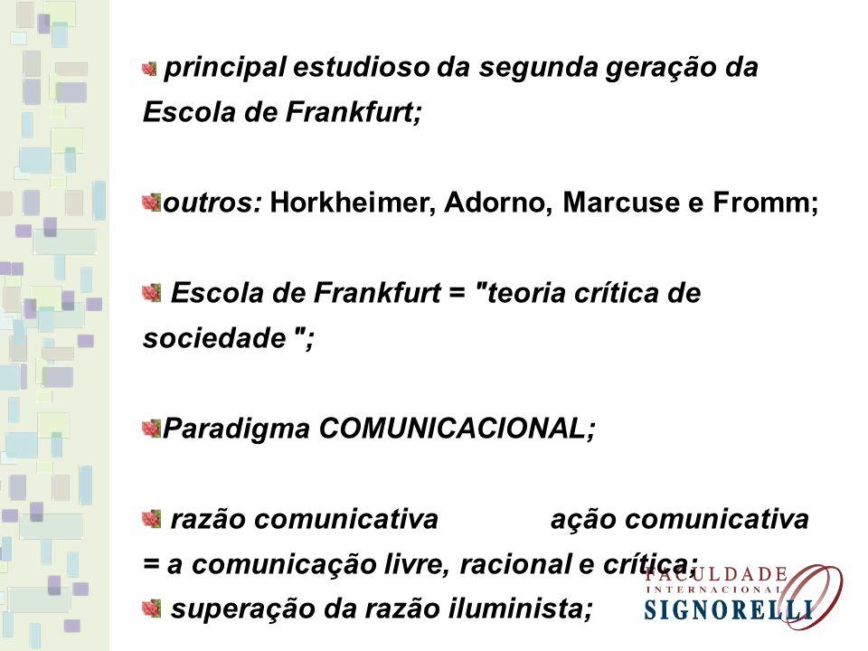 outros: Horkheimer, Adorno, Marcuse e Fromm;