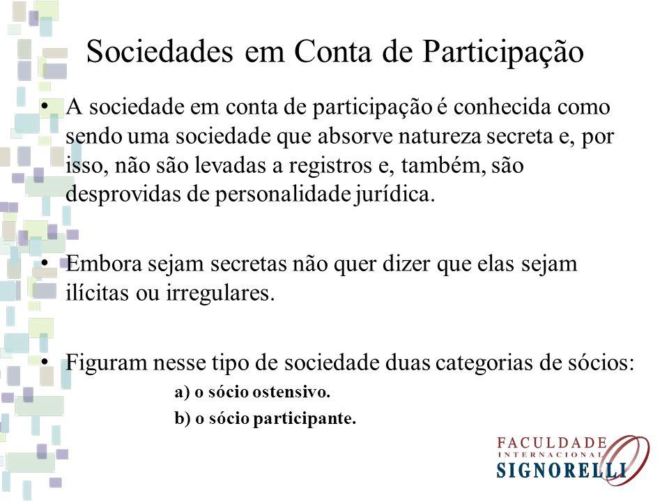Sociedades em Conta de Participação