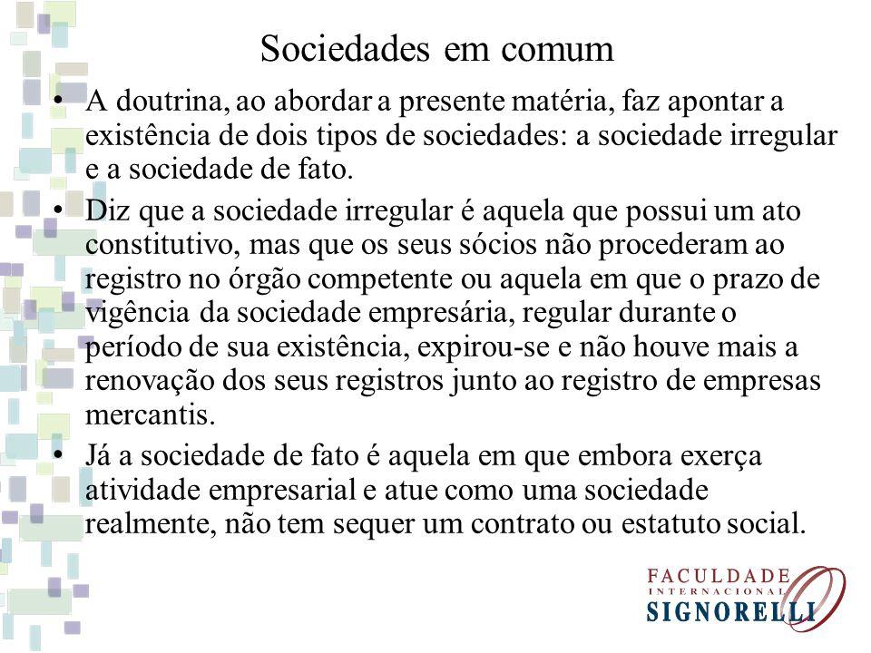 Sociedades em comum