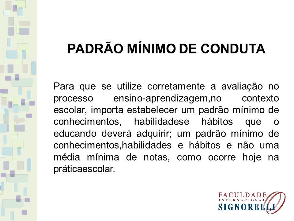 PADRÃO MÍNIMO DE CONDUTA