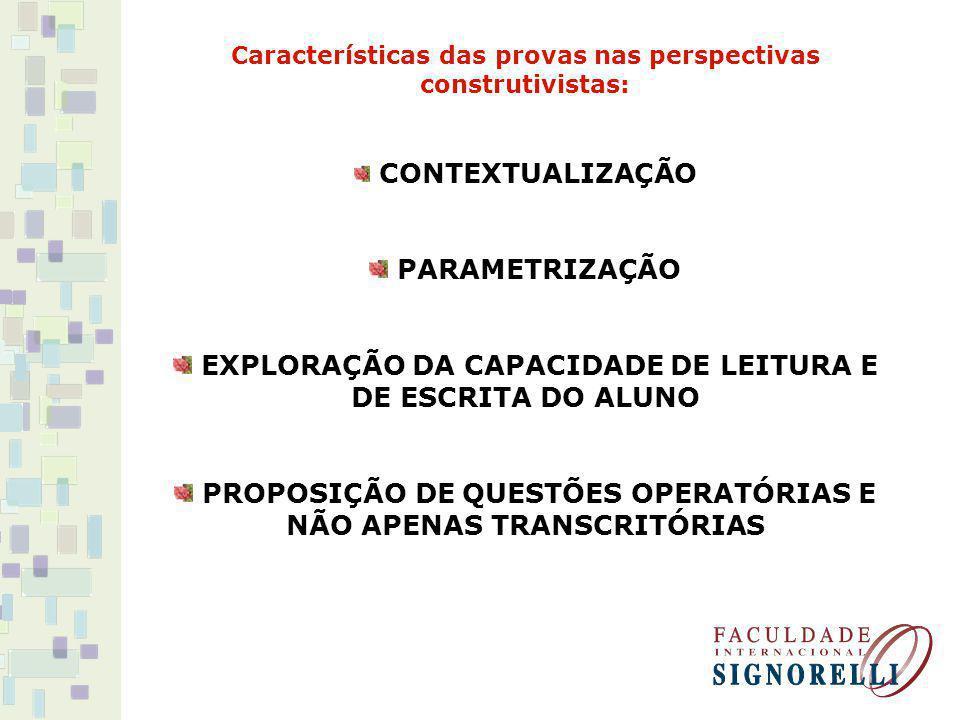 EXPLORAÇÃO DA CAPACIDADE DE LEITURA E DE ESCRITA DO ALUNO