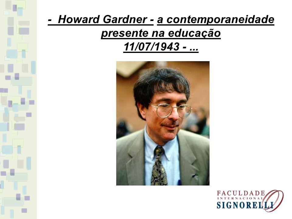 - Howard Gardner - a contemporaneidade presente na educação