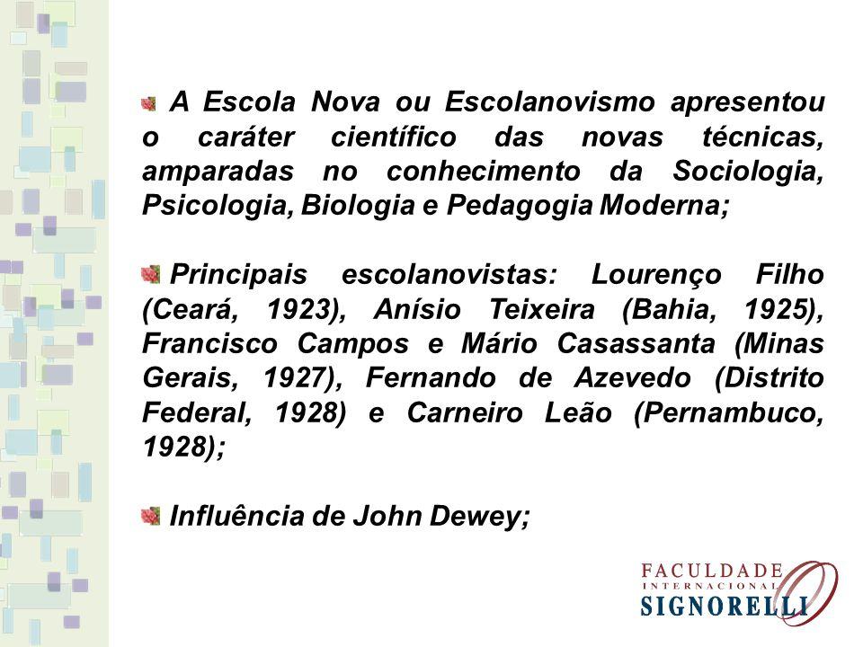 Influência de John Dewey;