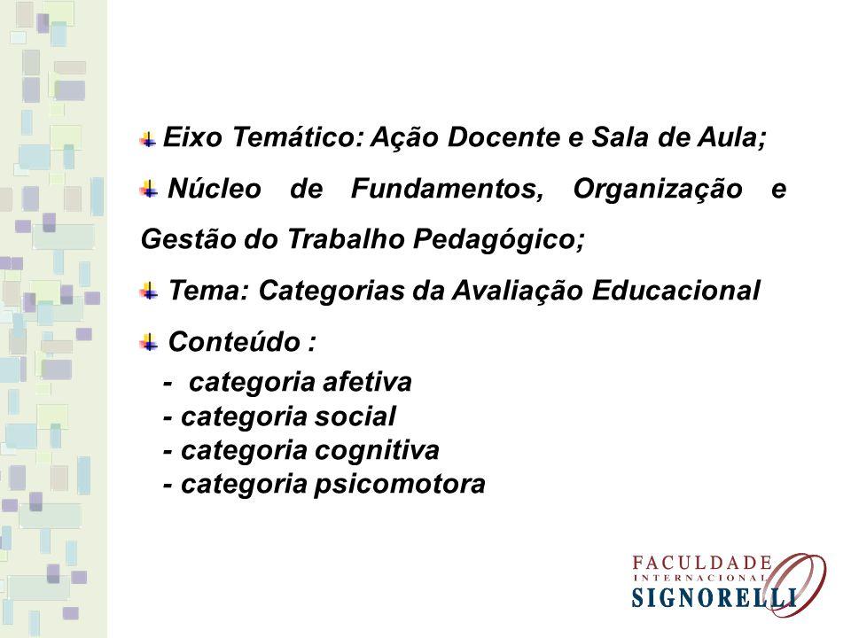 Núcleo de Fundamentos, Organização e Gestão do Trabalho Pedagógico;