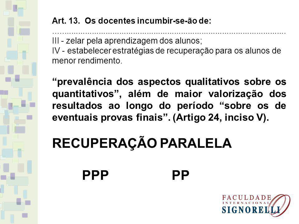 RECUPERAÇÃO PARALELA PPP PP