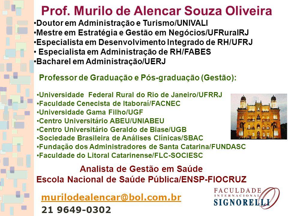 Prof. Murilo de Alencar Souza Oliveira