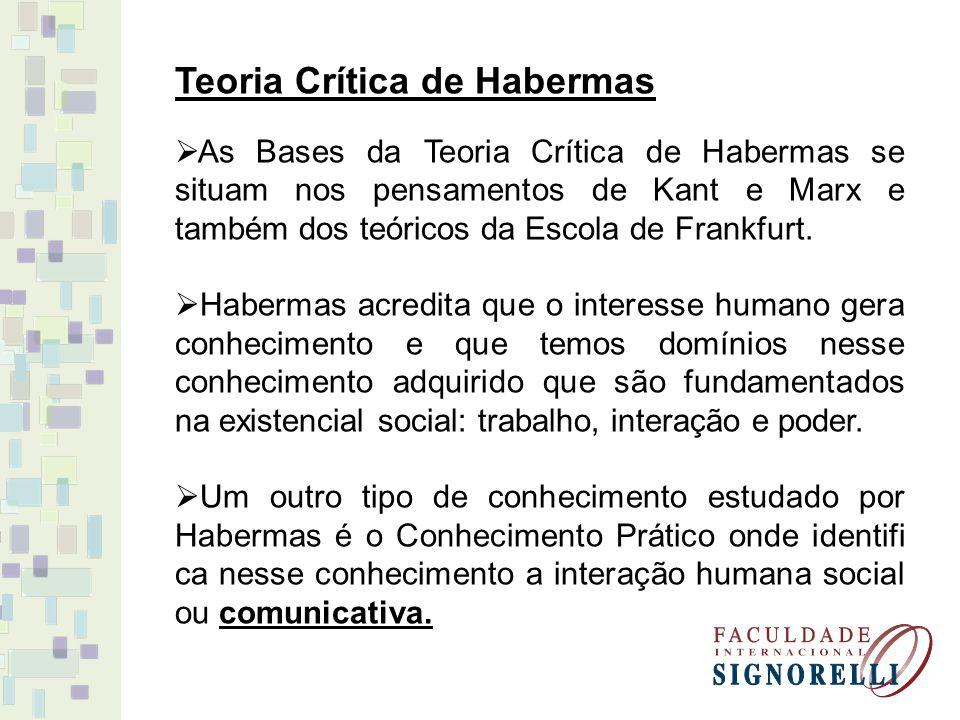 Teoria Crítica de Habermas
